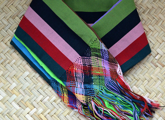 Cotton Back Strap Loom Rebozo