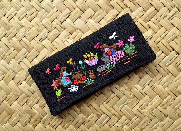 Folk Art Wallet - The Harvest