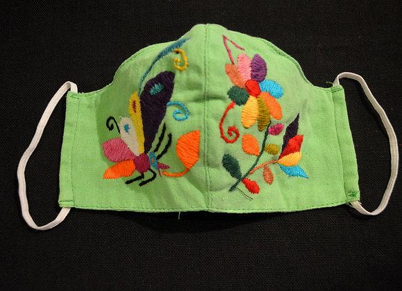 Green & Rainbow Otomi Face Masks