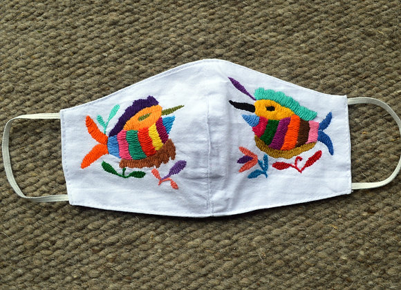 White Otomi Fish Face Masks