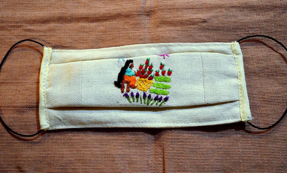 Hand Embroidered P'urepecha Masks
