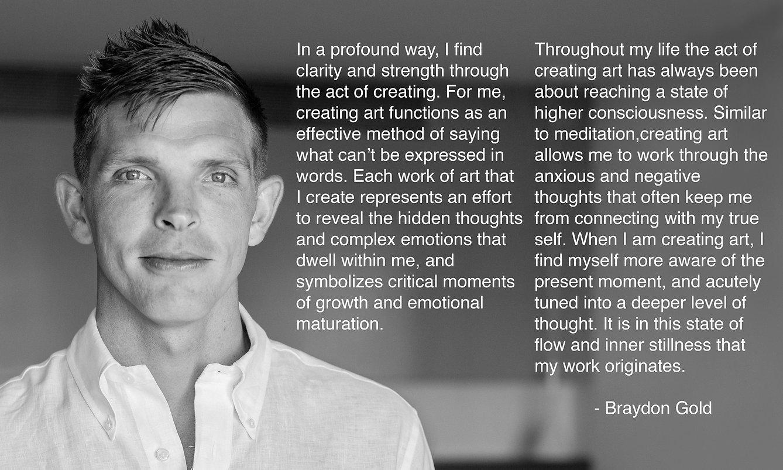 Braydon Gold artist statement