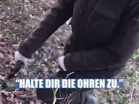 Warnung: Die Aufnahmen zeigen einen grausamen Katzenmord durch eine Jägerin