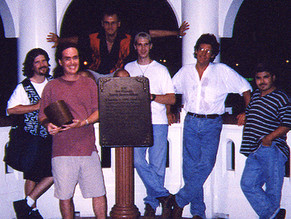 With Sean McCurley, Jamey Perrenot, Kirwan Brown, John Berka and Adrian  Cabello in Corpus after a show.