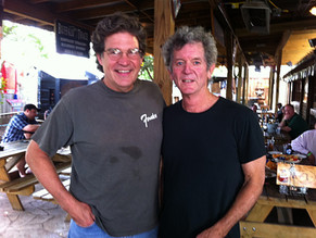 With Rodney Crowell after the show at Love & War