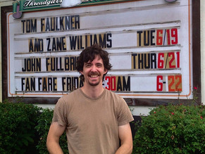 Before the show with Zane at Threadgill's in Austin.