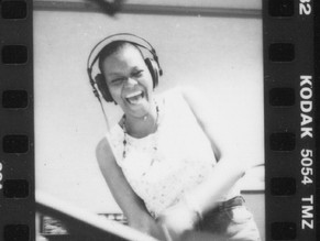 Lois Peeples in the studio cutting Raise The Roof