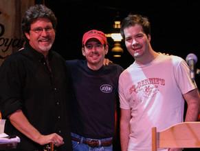 with John Muzyka (RIP) and Jon Christopher Davis after a Sunday night radio show at Billy Bob's Texas
