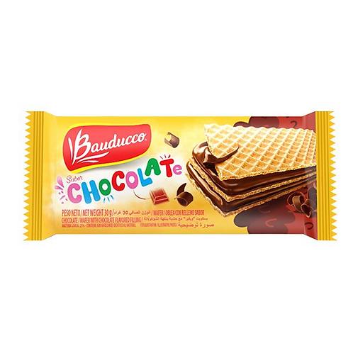 WAFLES BAUDUCO  Sabor  CHOCOLATE o FRUTILLA  30g