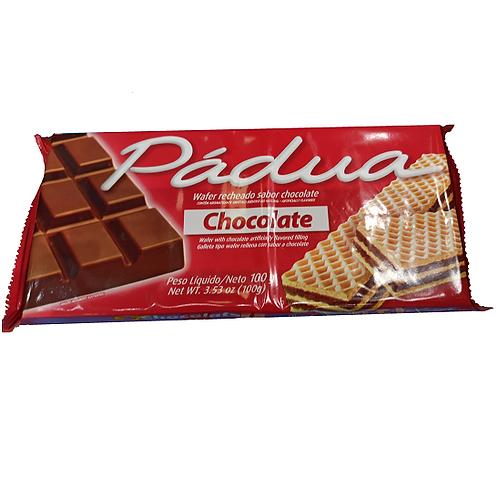 GALLETITAS WAFLE DE CHOCOLATE 100 GRS PADUA