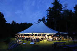 1 tent at night