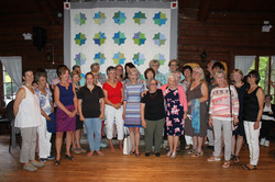 Everyone who worked on the quilt