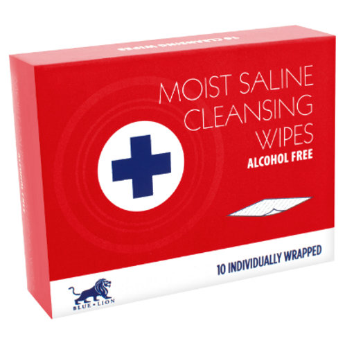 Moist Saline Cleansing Wipes (10)