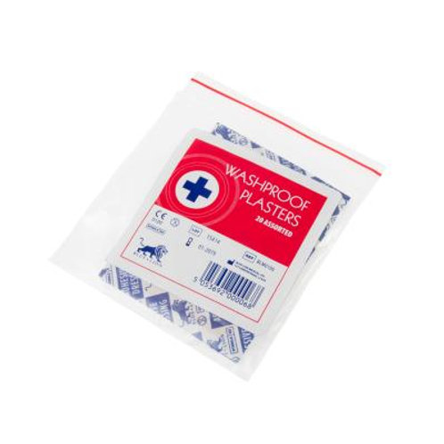 Washproof Plasters - Assorted (20)
