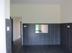 Spacious Kitchen with Quality Tiles Finish