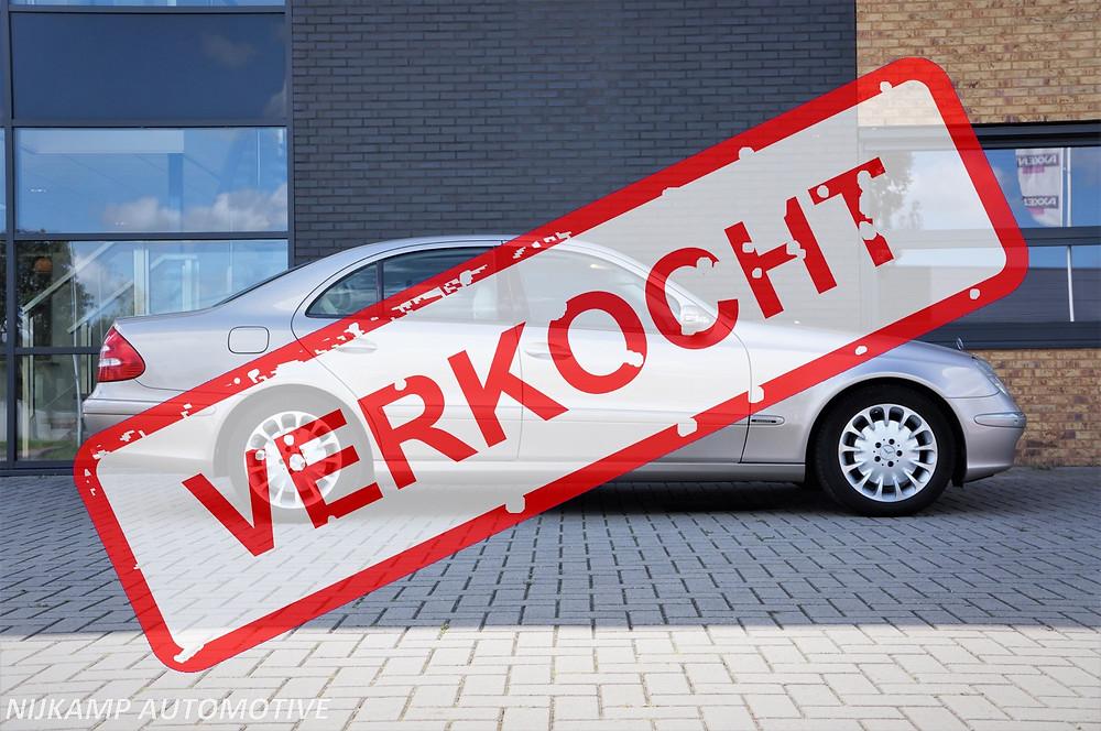 De E500 Elegance met 122.000 kilometer is verkocht en gaat naar Zwijndrecht!