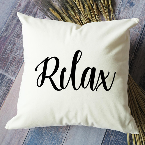 Relax Throw Pillow Interesting Relax Decorative Pillow