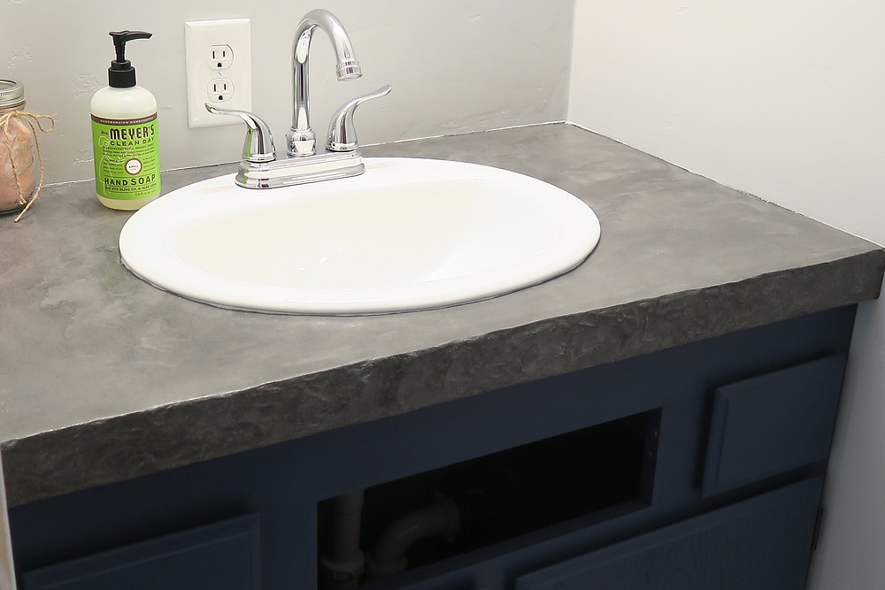Easy Concrete Countertop
