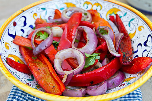Flame-Roasted Peppers & Onions