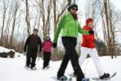Snowshoeing Hardy Lake Trails