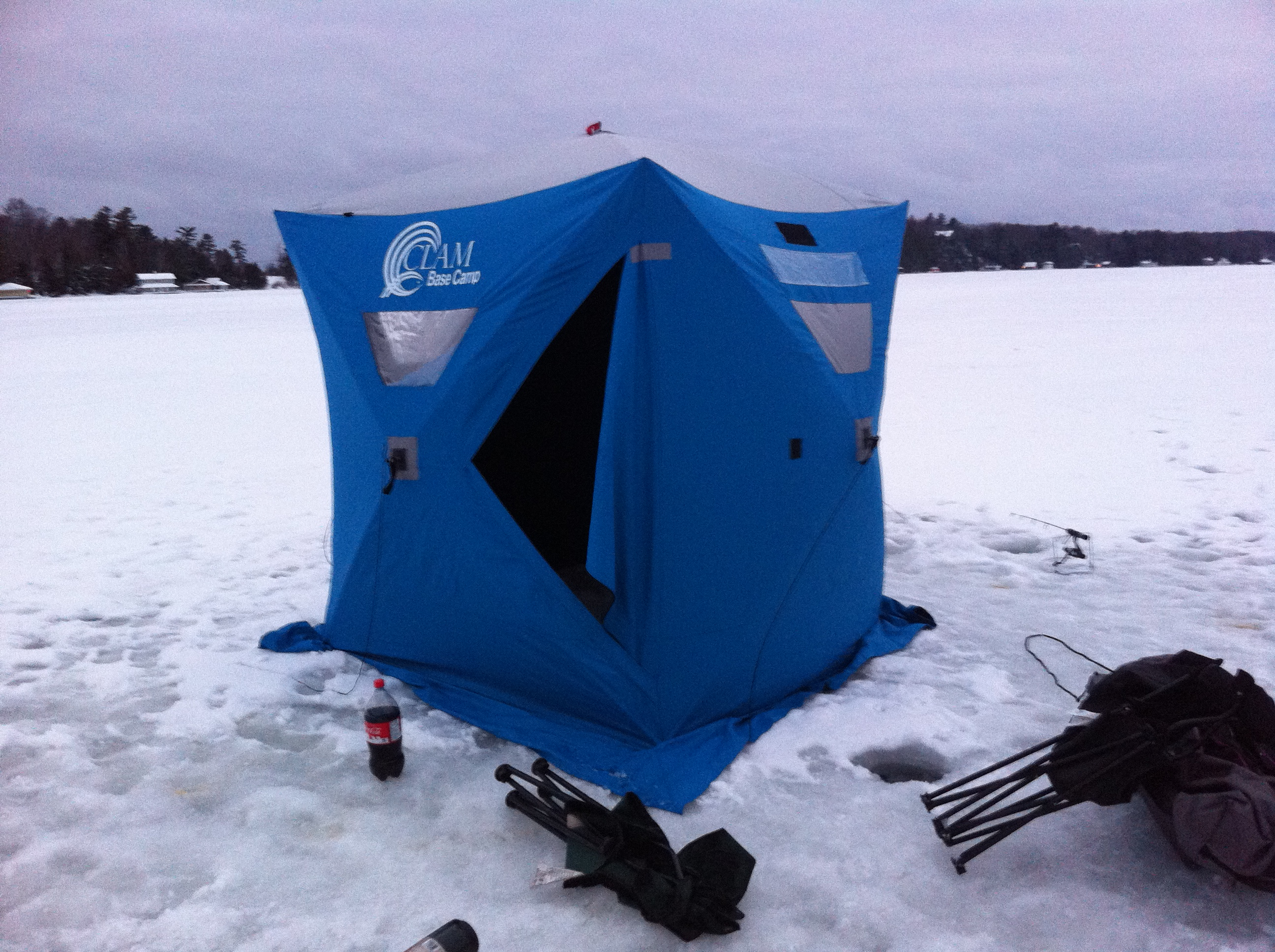 Portable Icehut on Lake Joseph