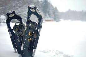 Snowshoes on Lake Muskoka