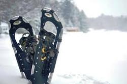 Snowshoes on Lake Muskoka