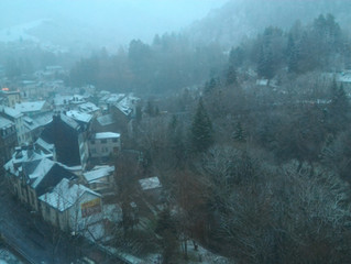 Auvergne J+3  Cani-rando dans la neige