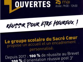 Portes Ouvertes du collège Le Sacré-Cœur - samedi 26 janvier.