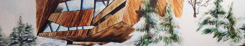 הבעה גראפית-ציור בטכניקת צבעי מים