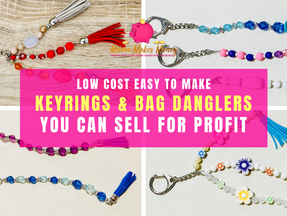 How to make beaded keyrings and bag danglers you can sell for profit.