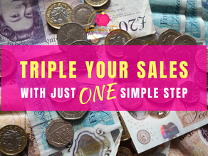Triple your sales with just ONE simple step...