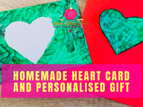 Kids Homemade Valentine's Heart Card & Personalised Gift