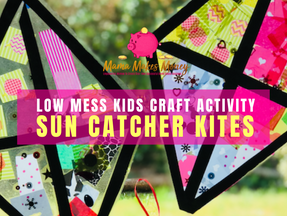How to make easy low-mess sun-catcher kites with kids