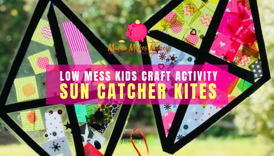 How to make low mess sun catcher kites kids craft activity