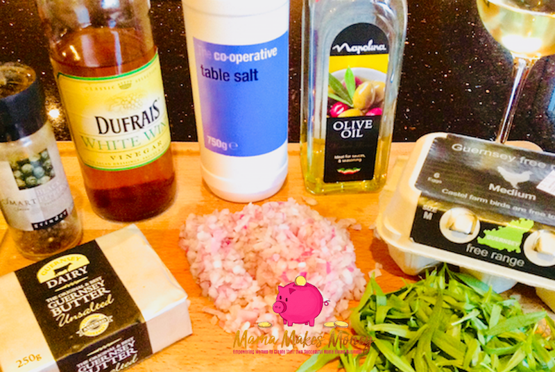 Quick and Easy Homemade Béarnaise Sauce Ingredients