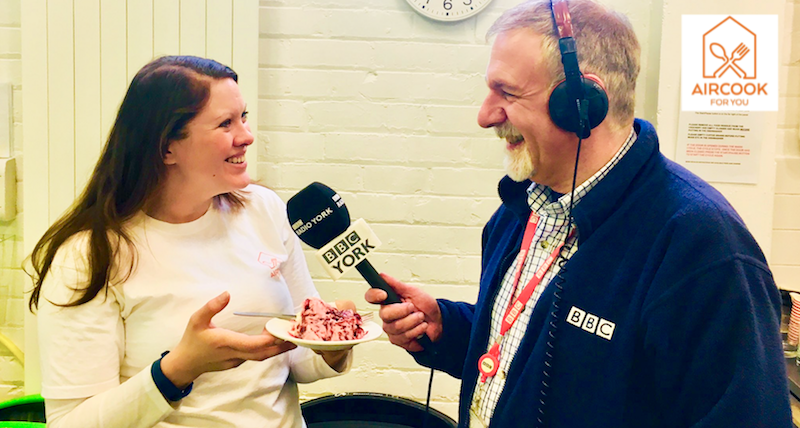 Elena Leeming, founder of AirCook for You, interview with BBC York