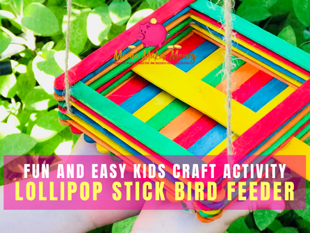 How to make a lollipop popsicle stick bird feeder