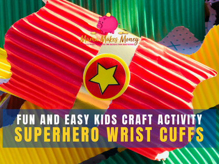 Fun and easy Superhero wrist cuffs kids craft activity