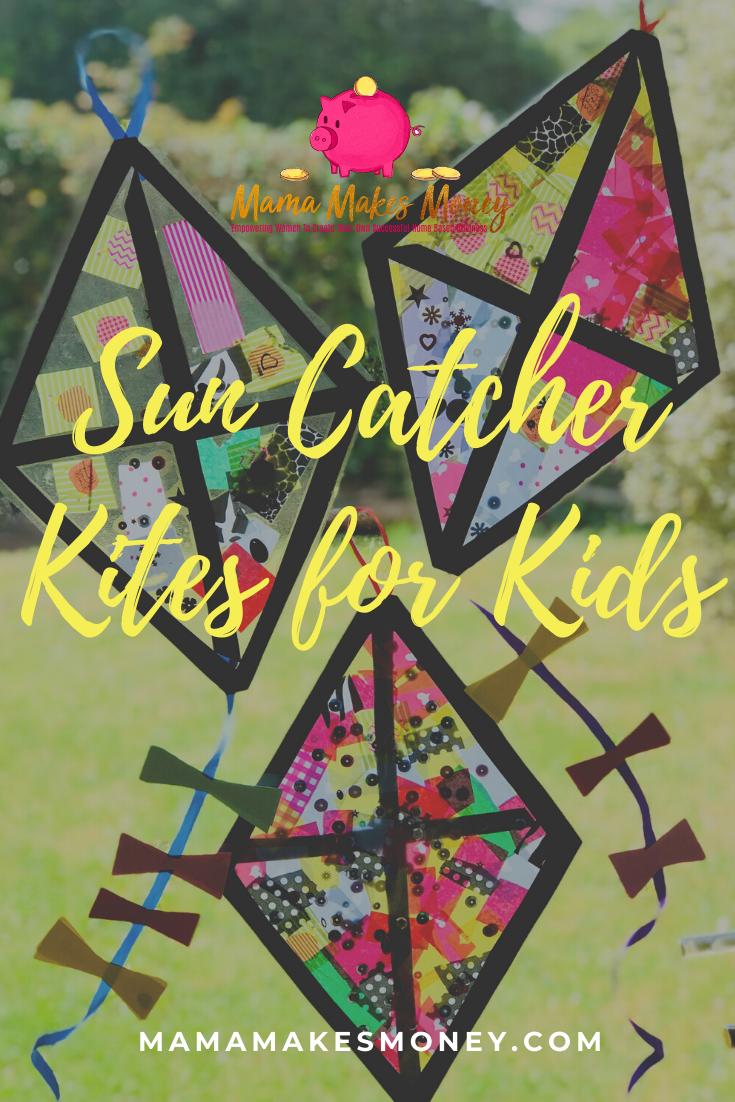 Sun Catcher Kites for Low Mess Kids Craft Activity
