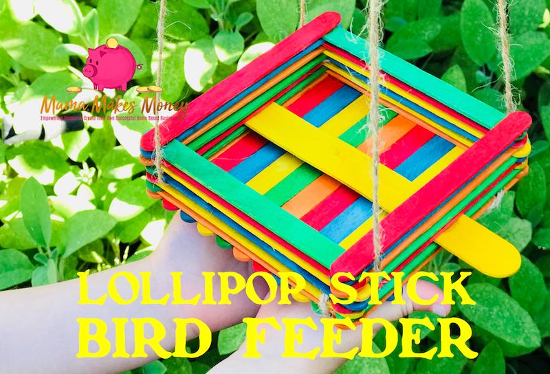 How to make a lollipop stick bird feeder kids craft activity