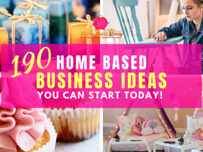 190 home based business ideas you can start today!