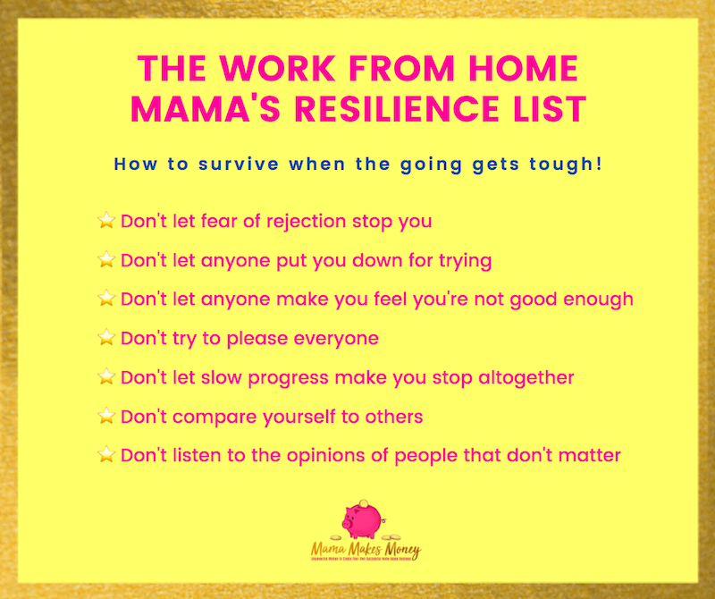 The Work From Home Mama Resilience List