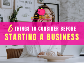 6 Things to consider before starting a business