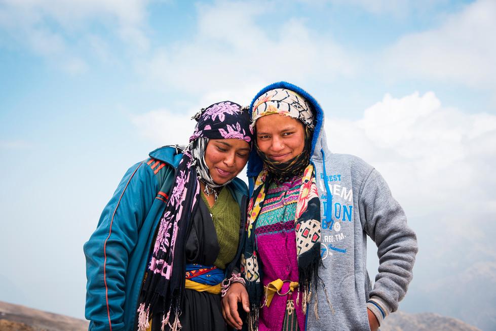 Local women at bhaguavasa.jpg