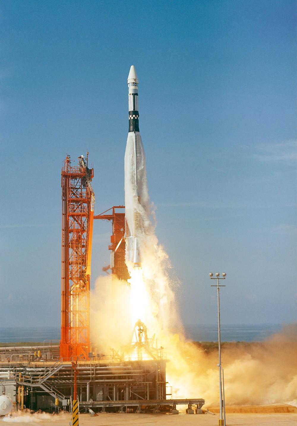 Atlas-Agena rocket launch