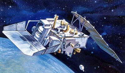 Artist's depiction of Teal Ruby satellite