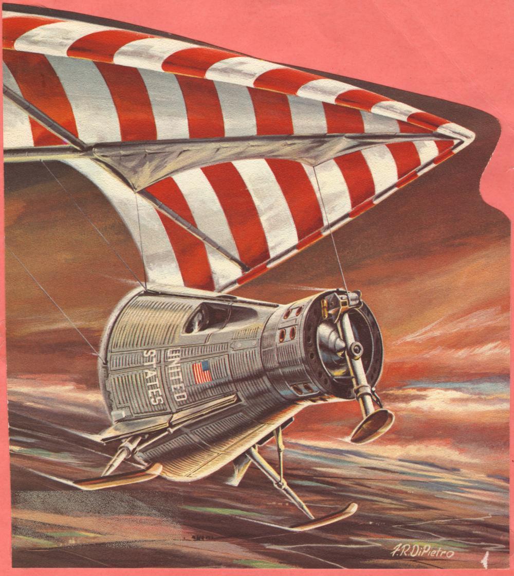 Artist's rendition of Gemini Paraglider landing