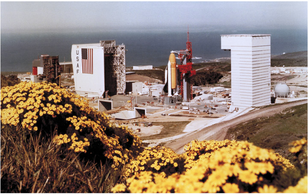 Vandenberg Air Force Base's Space Launch Complex 6 in the 1980s