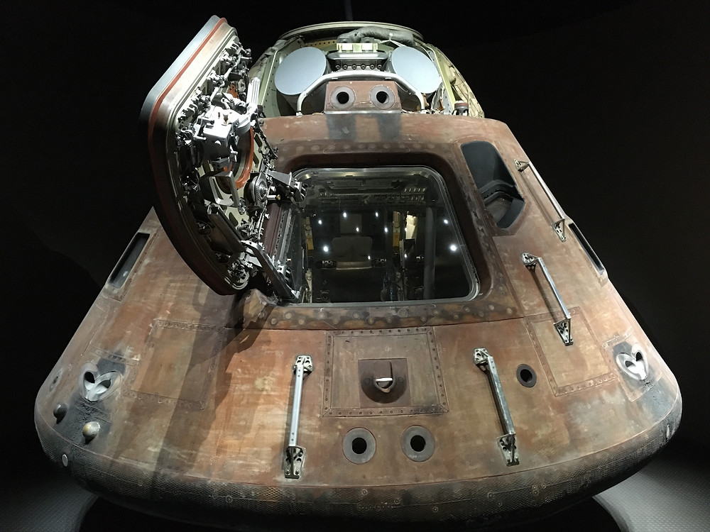 Apollo 14 command module Kitty Hawk at the Kennedy Space Center
